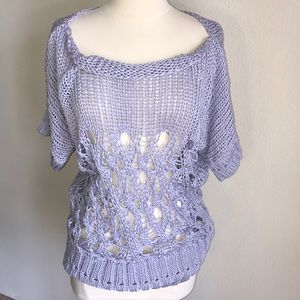 United colors of Benetton L purple open knit top
